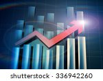 the rising of business finance | Shutterstock . vector #336942260