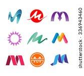 set of alphabet symbols of... | Shutterstock .eps vector #336943460