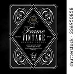 vintage frame label border... | Shutterstock .eps vector #336950858
