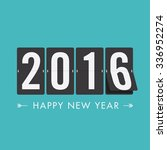 happy new year 2016 card ... | Shutterstock .eps vector #336952274