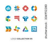 logo collection 05. vector... | Shutterstock .eps vector #336952280