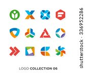 logo collection 04. vector... | Shutterstock .eps vector #336952286