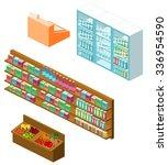 isometric items for shop | Shutterstock .eps vector #336954590