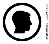 man head vector icon. style is... | Shutterstock .eps vector #336957470