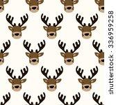 seamless pattern  deer art ... | Shutterstock .eps vector #336959258