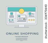 online shopping concept vector...