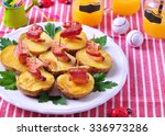 "baked potato with bacon ""boats"" ... 