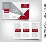 tri fold brochure template | Shutterstock .eps vector #336977150
