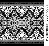 black damask vintage floral... | Shutterstock .eps vector #336977774