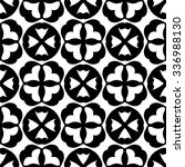 black and white gothic vector... | Shutterstock .eps vector #336988130