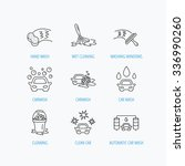 car wash icons. automatic... | Shutterstock .eps vector #336990260