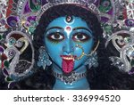 face kali idol on occasion of...   Shutterstock . vector #336994520