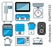 household appliances icon set.... | Shutterstock .eps vector #336995210