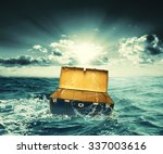 creative design of box lost on... | Shutterstock . vector #337003616