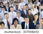 diverse ethnic friendship... | Shutterstock . vector #337008653