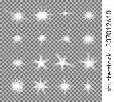 vector set of glowing light... | Shutterstock .eps vector #337012610