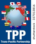 tpp trans pacific partnership ... | Shutterstock .eps vector #337013816