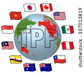 tpp trans pacific partnership ... | Shutterstock .eps vector #337013819