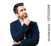 cool man pensive | Shutterstock . vector #337020548