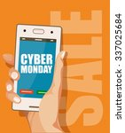 cyber monday poster. black... | Shutterstock .eps vector #337025684