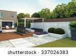 Modern Back Garden Of The House