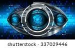 dark blue light abstract... | Shutterstock .eps vector #337029446