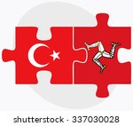 turkey and isle of man flags in ... | Shutterstock .eps vector #337030028