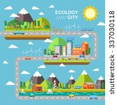 ecology city scenery concept in ... | Shutterstock .eps vector #337030118