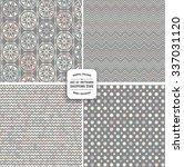 pastel retro patterns. cute... | Shutterstock .eps vector #337031120