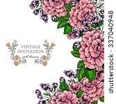 vintage delicate invitation... | Shutterstock .eps vector #337040948