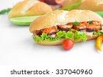 vietnam banh mi. banh mi is... | Shutterstock . vector #337040960