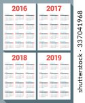set of calendars for 2016  2017 ... | Shutterstock .eps vector #337041968