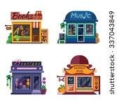 set of nice shops. different...   Shutterstock .eps vector #337043849
