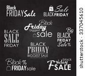 black friday sale calligraphic... | Shutterstock .eps vector #337045610