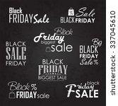 black friday sale calligraphic...   Shutterstock .eps vector #337045610