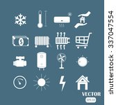 set icon of heating and cooling.... | Shutterstock .eps vector #337047554