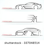set of sports car silhouettes... | Shutterstock .eps vector #337048514