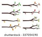 vector set of tree branches in... | Shutterstock .eps vector #337054190