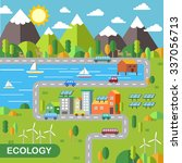 ecology city scenery concept in ... | Shutterstock . vector #337056713