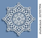 paper lace doily  decorative... | Shutterstock .eps vector #337057994
