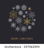snowlakes  geometric christmas...