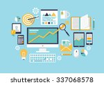 office object. flat... | Shutterstock . vector #337068578