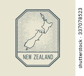 stamp with the name and map of... | Shutterstock .eps vector #337078523