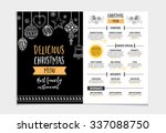 vector christmas restaurant... | Shutterstock .eps vector #337088750