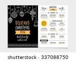 vector christmas restaurant... | Shutterstock .eps vector #337088750