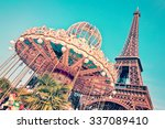 vintage merry go round and the... | Shutterstock . vector #337089410