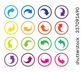 arrow sign icon set. simple... | Shutterstock .eps vector #337091690