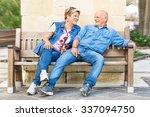 happy senior couple having fun... | Shutterstock . vector #337094750