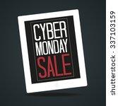 cyber monday poster vector... | Shutterstock .eps vector #337103159