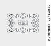 vector retro style flourish... | Shutterstock .eps vector #337110680